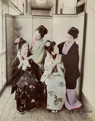 Prostitutes at No. 9 Nectarine, Yokohama (noel43) Tags: japan japanese meiji photography yokohama shashin kanagawa nectarine no9 prostitution prostitutes brothel jinpuro shinpuro pleasure redlight district