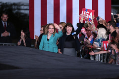 Ann Kirkpatrick & Gabrielle Giffords (Gage Skidmore) Tags: hillary clinton former secretary state democratic nominee president presidential 2016 arizona university intramural fields tempe ann kirkpatrick gabrielle gabby giffords congressman congresswoman