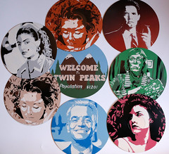 Spencer's stencils hunt this weekend in Brussels (spencer0) Tags: spencer stencil pochoir brussels streetart street art twinpeaks laurapalmer dalecooper loglady shellyjohnson audreyhorne