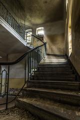 Das Haus der Offiziere - schon wieder Treppen (ho4587@ymail.com) Tags: hausderoffiziere verlassen abandoned kaputt zerstrt urbex gebude licht fenster treppe stufen stairs