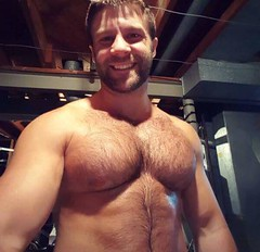 Adorable cub! (mike--123) Tags: scruff pecs furry beefy meaty hairy grin