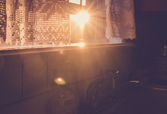 296 | 366 (kelly ishmael) Tags: kitchen sink curtain goldenhour