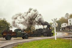 Cass Scenic Railroad (Scriptunas Images) Tags: cassscenicrailroad shay steam scriptunas train railroad westvirginia rain smoke