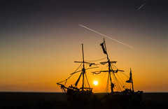 Grace Darling Sunset (David Chennell - DavidC.Photography) Tags: wirral merseyside pirateship sunset dusk twilight silhouette coastal hoylake gracedarling