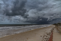 Here comes the rain. (johnwilliamson4) Tags: adelaide beach darkclouds henleybeach rain sky southauatralia southaustralia australia