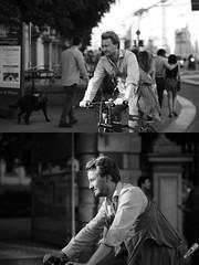 [La Mia Citt][Pedala] (Urca) Tags: milano italia 2016 bicicletta pedalare ciclista ritrattostradale portrait dittico nikondigitale mir bike bicycle biancoenero blackandwhite bn bw 89581