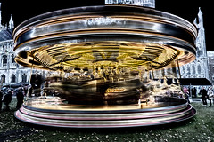 Round and round and round (David Feuerhelm) Tags: outdoor abstract slowshutter colour solarisation colorefex nikkor wideangle ely movement