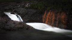Silk (kleptografy) Tags: europe isleofskye scotland uk cliff landscape water waterfall flow totalphoto