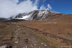 Towards Base Camp (Vinchel) Tags: china sichuan siguniang trek outdoor mountain hiking fuji xt2 1655mm f28 landscape mountainside hill peak travel