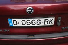 Opel (Jusotil_1943) Tags: domingo logo placa matricula redcars 666 numeros