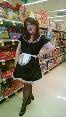 French Maid costume (rgaines) Tags: costume cosplay crossplay drag frenchmaid halloween shopping