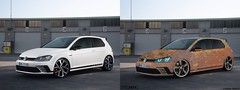 Volkswagen-Golf_GTI_Clubsport-2016 (MikkoMäkelä96) Tags: wall wheels white low volkswagen selfmade neon design red rims road ratrod rusted rust tuning mtuning body bumpers custom building gimp mikko virtual silver orange colors porsche car paint black
