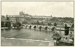 5228 R Prag Praha Karlův most a Hradčany  Prag Charles Bridge and Hradčany Castle Прага Карлов мост и Пражский Градчаны 27. V. 1948. a (Morton1905) Tags: 5228 r prag praha karlův most hradčany charles bridge castle прага карлов мост и пражский градчаны 27 v 1948