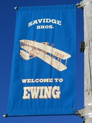 Welcome to Ewing Banner (Ewing, Nebraska) (courthouselover) Tags: nebraska ne citywelcomesigns holtcounty ewing sandhills