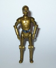 C-3PO star wars the clone wars no.16 blue and white packaging basic action figures 2008 wave 3 hasbro 2 b (tjparkside) Tags: c3po c 3po droid droids protocol translator tcw clone wars star hasbro basic action figure figures blue white packaging card 2008 series 3 number 16 no no16 glowing eyes padme amidala rebel rebels
