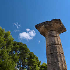 Squared column (senza senso) Tags: greece olympia peloponnese column squared