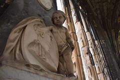 Gravestone detail (Bebopgirl1969) Tags: cameo cherub gravestone elgincathedral