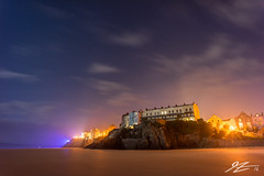 Watch The World Change (Tim van Zundert) Tags: tenby dinbychypysgod pembrokeshire west wales carmarthen bay beach town lights cloud stars night evening long exposure sony a7r voigtlander 21mm ultron