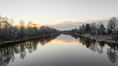 Morning (samiKoo) Tags: november river morning sunrise calm reflection reflections nature naturallight naturephotography water sky clouds sunlight photography photo photograph canon 6d 24105mml