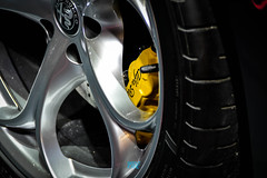L'autosalon Bruxelles | Alfa-Romeo Giulia (Nerbizmeaux) Tags: brake caliper alfa romeo tspark 4c spyder boxer sportscar vivaitalia