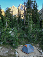Our North Fork Cascade Camp (GlobalGoebel) Tags: iphone iphone6 iphoneography grand teton national park alta wyoming unitedstates us north fork cascade canyon camp backcountry tent rei quarterdome tetoncresttrail