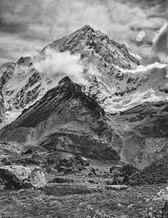 Mehra Peak (5849m) (cody.waldon) Tags: mehra himalaya himalayas mountain peak roof nepal landscape monochrome blackandwhite blackwhite rock ebc explore energy fuji fun xt1 adventure amazing scene sky skyscape sherpa summit