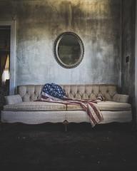 Faded glory (_soliveyourlife_) Tags: flag americanflag abandoned abandonedplaces canadianphotographer decay deborahlillis explore exploring forgottenplaces sony sonyimages soliveyourlife