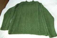 Green irish fisherman wool jersey (Mytwist) Tags: ega2011 unisex wool sweater jumper aran jersey fisherman caled style fashion irish ireland love passion wife wedding