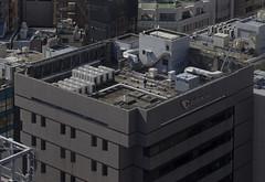 Tokyo 4083 (tokyoform) Tags: roof machinery maintenance person tokyo tokio  japo japn giappone nhtbn tquio           chrisjongkind tokyoform  japanese asia asian city     ciudad cidade ville stadt urban  people orangbanyak  skyscraper    canon6d