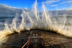 High Tide At Aberdeen Beach (PeskyMesky) Tags: aberdeen aberdeenbeach storm scotland flickr canon canoneos500d