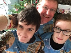 Christmas 'jumpers' from QVC (charity sale) (Dark Dwarf) Tags: 2016 xmas family dad boys rockefellercentre qvc jumper christmas