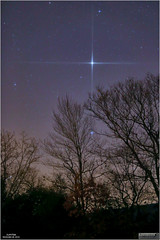 Jupiter in the Early Morning of November 28, 2016 (Tom Wildoner) Tags: tomwildoner leisurelyscientistcom leisurelyscientist jupiter planet solarsystem trees sky morning november 2016 tiffen stars space astronomy astrophotography astronomer canon canon6d tripod colorful silhouette weatherly pennsylvania planets