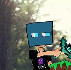 """Dylan """"Minecraft"""" Este desenho e o último não passa de referências do jogo de mineração e do livro de semideus. Aquela loira não é a Annie, é a minha oc fazendo cosplay. (Pedro Au) Tags: instagramapp square squareformat iphoneography uploaded:by=instagram minecraft game oc original forest cover"""