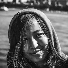 Aries (Octal Photo) Tags: 500px new york portrait monochrome people girl woman beautiful face one adult black white fashion hair smile street brunette aries