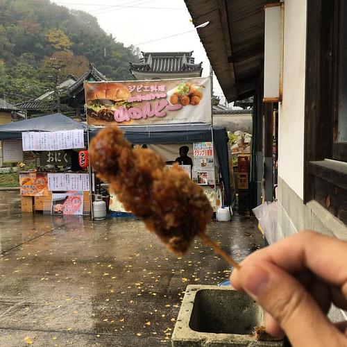 佐用町の鹿肉の串カツ @おくとう市