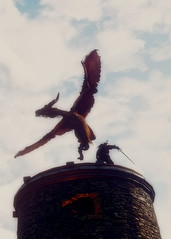 The Witcher 3 Super-Resolution (BrijrajRavalji) Tags: screenshot reshade witcher witcher3 wyvern lornruk lighthouse geralt monster sky