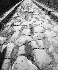Bumpy Roads (noname_clark) Tags: honeymoon vacation trip italy pompeii street rock bumpy blackandwhite