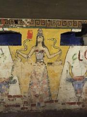 Goddess (John of Witney) Tags: painting greek mural nt basement goddess nationaltrust leithhillplace