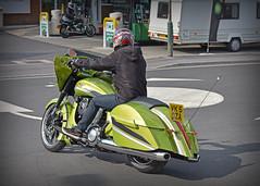 V is for ........... (Harleynik Rides Again.) Tags: green victory v motorcycle biker barge bagger nikond810 harleynikridesagain
