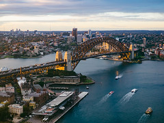 20150903 - 01 - Sydney - Harbour view (Kayhadrin) Tags: sunset water bay boat au sydney australia nsw newsouthwales harbourbridge