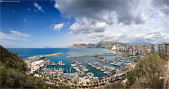 VIEW FROM THE ROCK #1 (Des Hawley. Over 1.7 million views !!) Tags: sea sky panorama cloud mountains nature beautiful beauty rock marina landscape boats seaside cool spain nikon harbour outdoor pano gorgeous awesome hill resort andromeda blueskies yachts breathtaking calpe autofocus d300 calp theacademy realclubnautico nikonflickraward valenciaregion platinumpeaceaward deshawley thegalaxyhalloffame thegalaxystars penondeipach