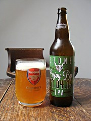 Devastatingly Independent (knightbefore_99) Tags: uk england india beer stone real football drink cerveza ale craft tasty pale ipa futbol import arsenal camra hops pivo malt gunners
