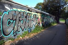 You are what you Is (weirdoldhattie) Tags: urban streetart art bristol graffiti alley alleyway lane cyclepath horfield lockleaze bs7