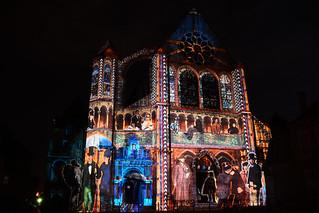 Chartres en Lumières 2015 - Église Saint-Aignan