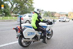Police Motorcycle Port of Spain Trinidad and Tobago (Ray Cunningham) Tags: port fun spain police run trinidad motorcycle tobago 5k