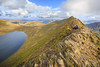 Helvellyn, Striding Edge, Red tarn and Ullswater in the Distance (TomScottPhoto) Tags: red mountain lake lakes lakedistrict edge cumbria tarn fell helvellyn ullswater striding