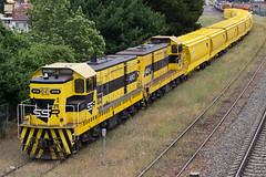 The Yellow Train (PJ Reading) Tags: railroad black yellow train diesel wheat south grain sydney rail railway loco australia cargo southern nsw newsouthwales locomotive ssr freight refurbishment refurb southernhighlands livery goulburn stowed stabled 49class southernshorthaulrailroad