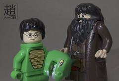 You're A Lizard 'Arry (mikechiu86) Tags: costume lego harry potter lizard mascot suit hagrid minifigures