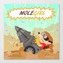 The amazing molegirl (los dibujos de Alapapajú) Tags: art animal illustration power absurd cartoon decoration hero heroine superhero ridiculous mole decor dig poder heroina superheroine cavar superheroina excavar