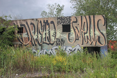 Droid, Smells (NJphotograffer) Tags: new urban building abandoned fire graffiti explore jersey roller extinguisher droid smells 907 droid907